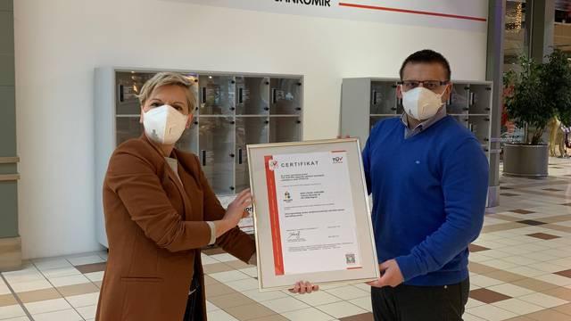 King Cross Jankomir certificiran za upravljanje higijenom od strane TÜV Austria
