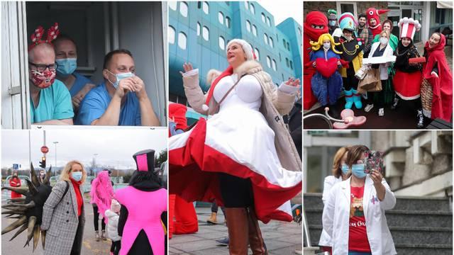 Ganuli srca liječnika i bolesnih: Poznati im pjevali i nosili kolače