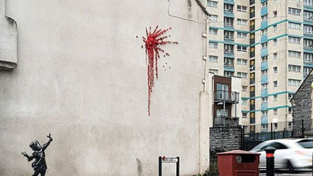 Mistični Banksy svojim novim muralom čestitao Valentinovo