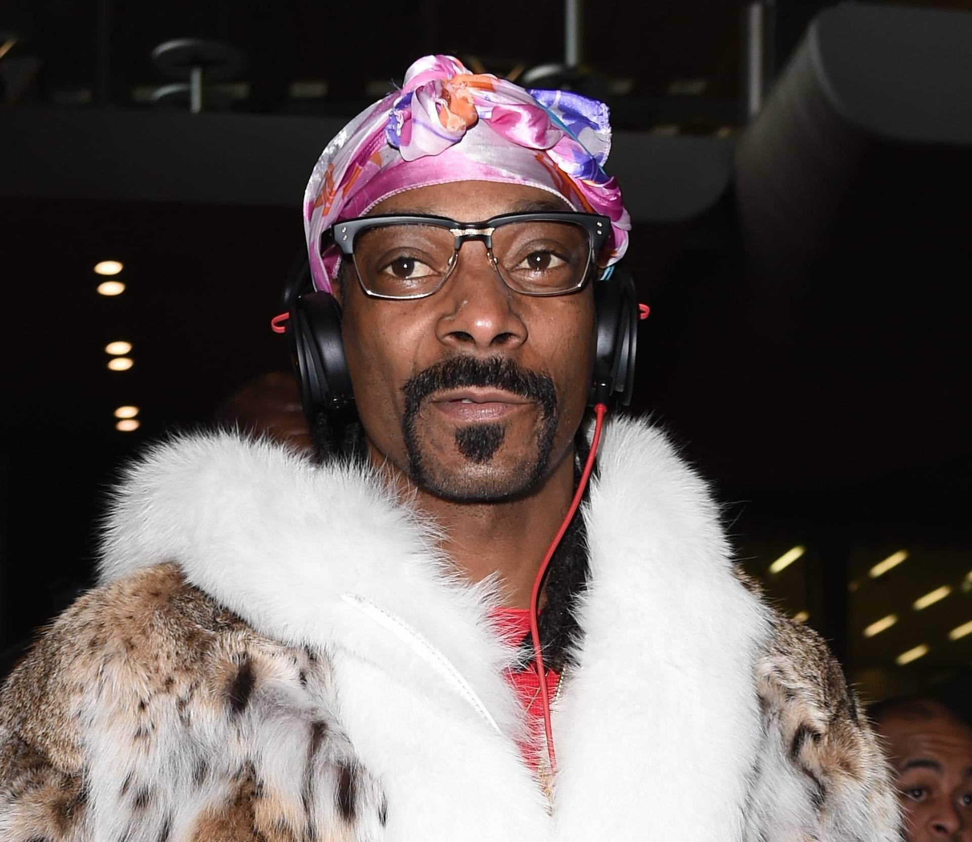 Snoop Dog is seen at Paris Charles De Gaulle Airport In France