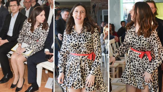 Vladimira Palfi došla je na skup 'Živog zida' u leopard haljini