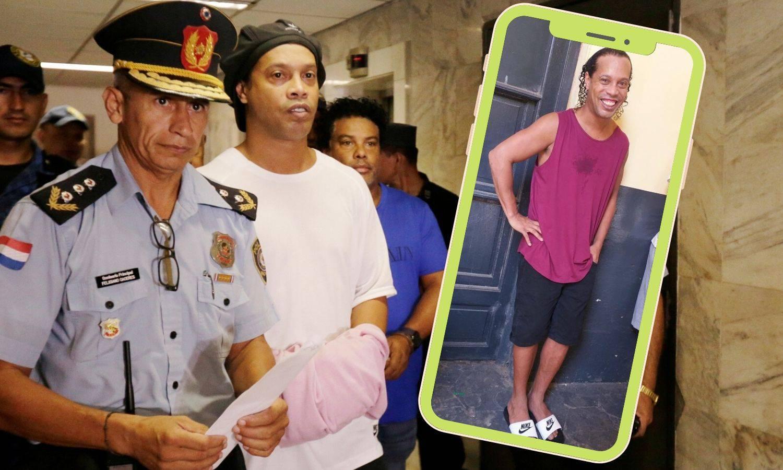 Stigla je prva fotka Ronaldinha iza rešetaka: I dalje se smije...