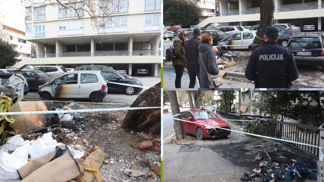 U Splitu gorjeli kontejneri, vatra je oštetila i tri automobila...