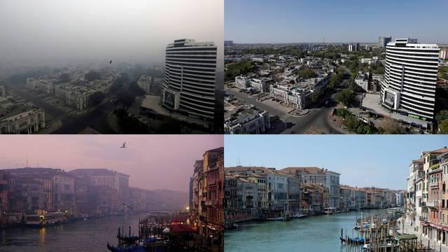 Ove slike dokazuju koliko se zagađenje smanjilo radi korone