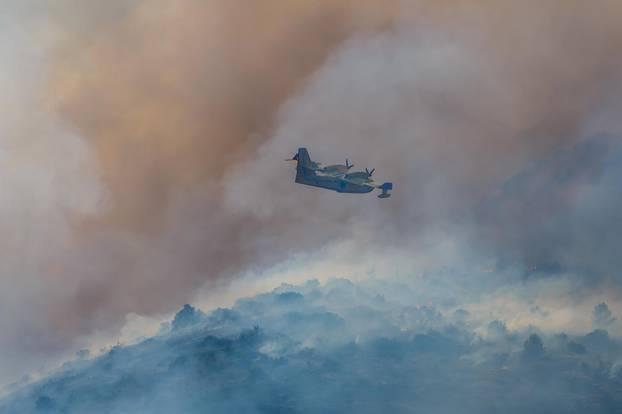 Veliki šumski požar u okolici Planog