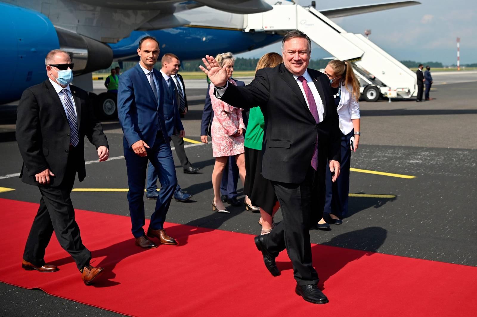 U.S. Secretary of State Pompeo arrives in Slovenia