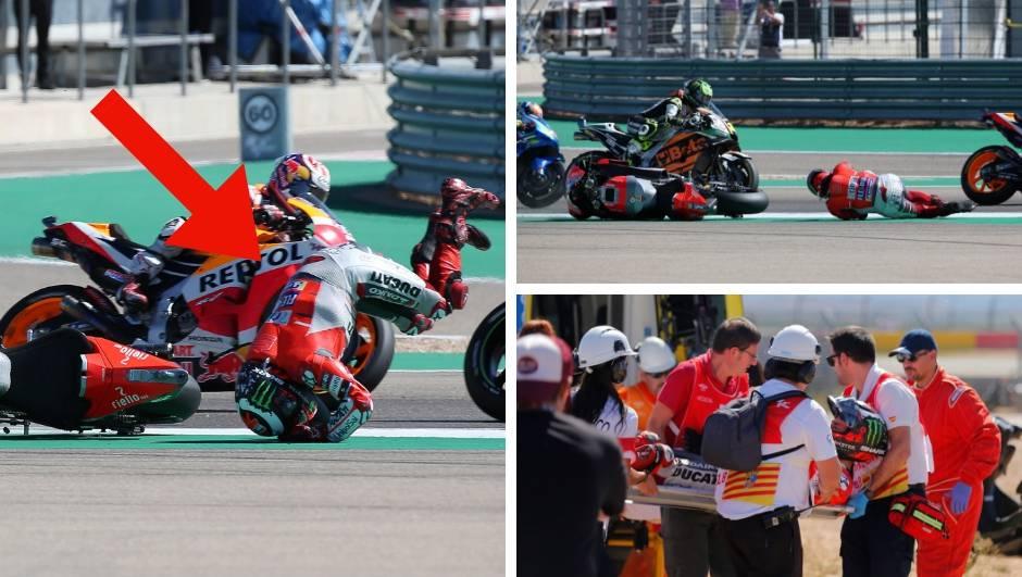 Težak pad favorita na početku utrke, odnijeli su ga nosilima...