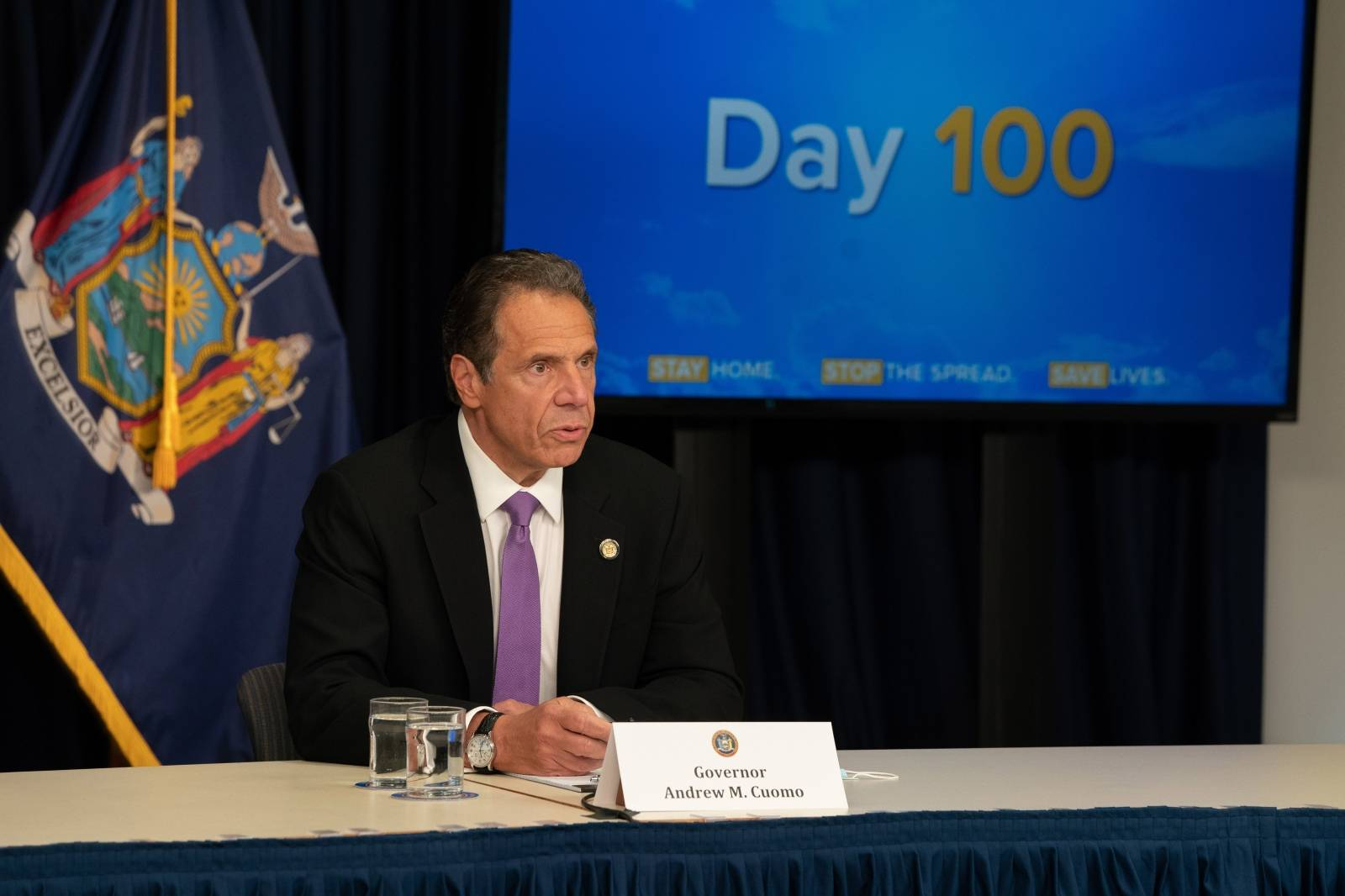 Le briefing quotidien du gouverneur de New York Andrew Cuomo sur le coronavirus (COVID-19)