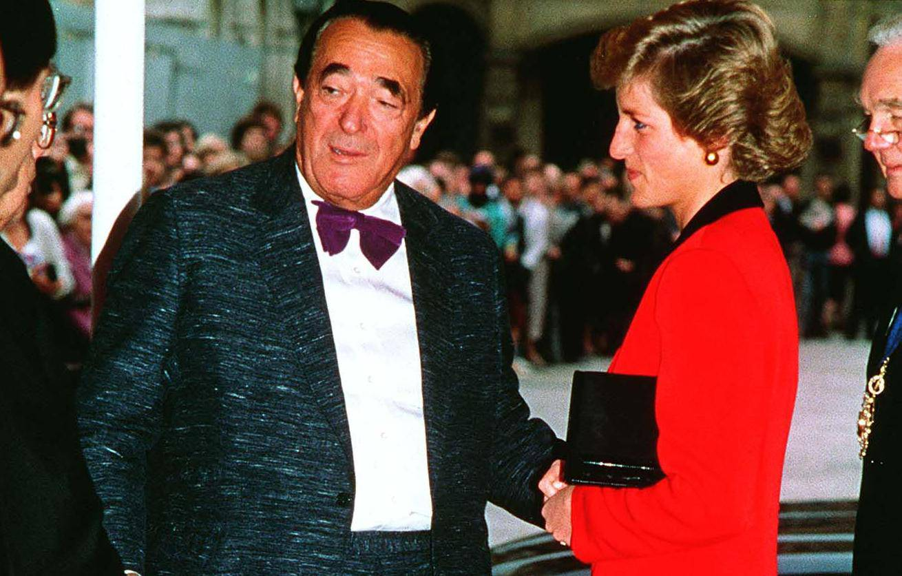 HRH PRINCESS OF WALESwith ROBERT MAXWELLBritish PublisherAt a luncheon at Guildhall to launch the National Aids TrustCOMPULSORY CREDIT: UPPA/Photoshot PhotoCD 279763   03.10.1988 Friday 31st August - 15 years since Dianas death
