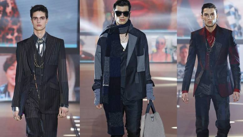 Odijela prugastog i patchwork stila potpisuju Dolce & Gabbana