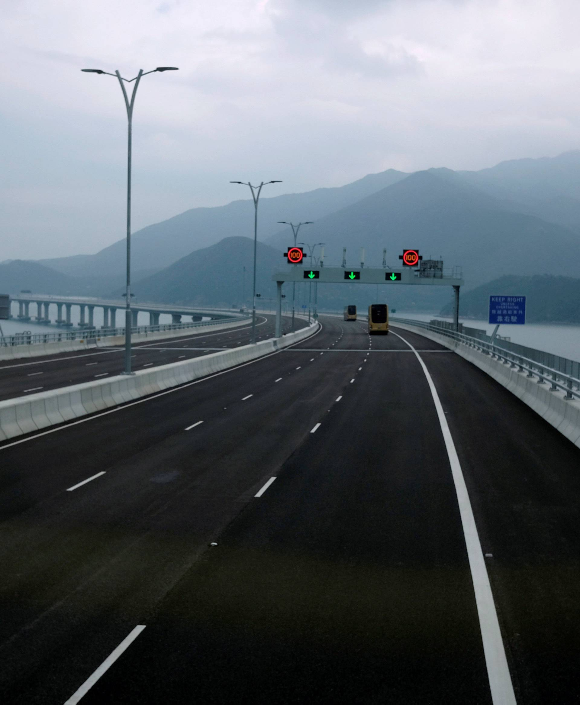 View on the Hong Kong side of the Hong Kong-Zhuhai-Macau bridge
