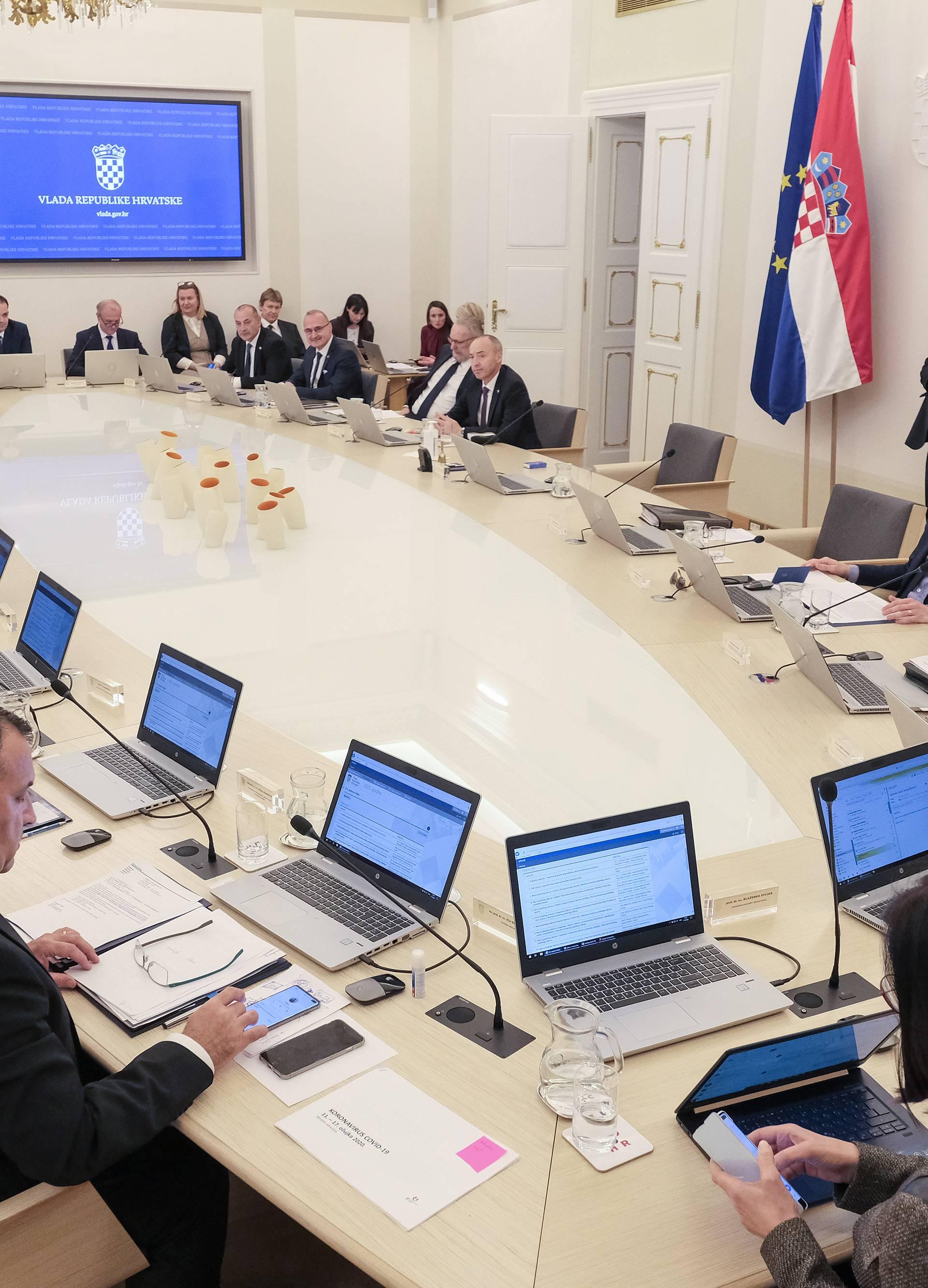 Zagreb: Održana sjednica Vlade RH