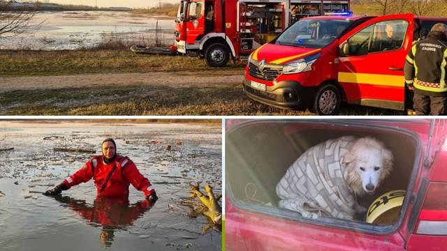 Vatrogasac iz zaleđenog jezera spasio psa: 'Puzao sam po ledu do njega, pa sam i ja propao'