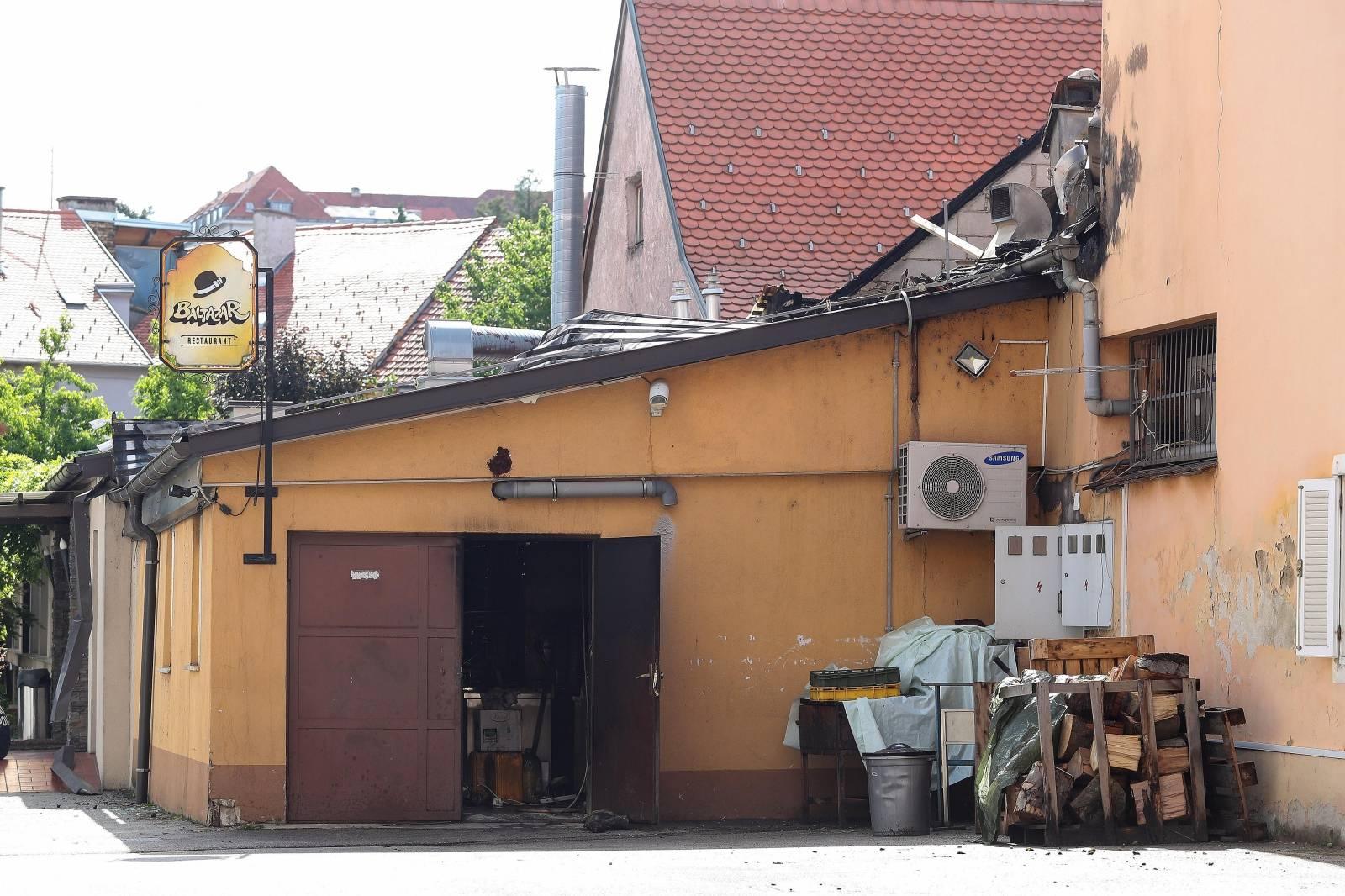 U Zagrebu izgorio krov i dio popularnog restorana Baltazar