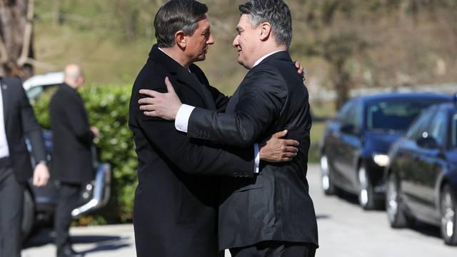 Srdačan susret Zorana Milanovića i Boruta Pahora u Otočcu ob Krki
