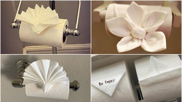 Novi hit: Ljudi su počeli raditi origami od toaletnog papira