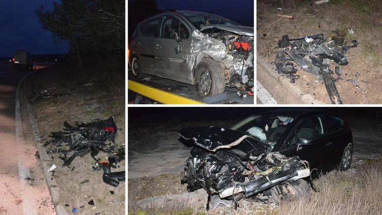Troje ljudi ozlijeđeno: Dijelovi automobila letjeli na sve strane