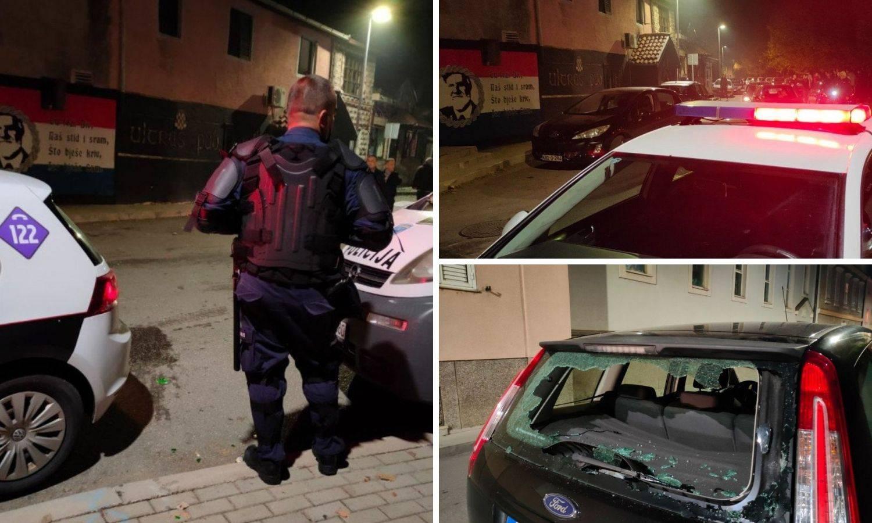 Neredi uoči mostarskog derbija: Huligani razbijali automobile pa izazvali požar u kafiću Zrinjskog