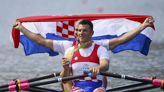 Rowing - Men's Double Sculls Victory Ceremony