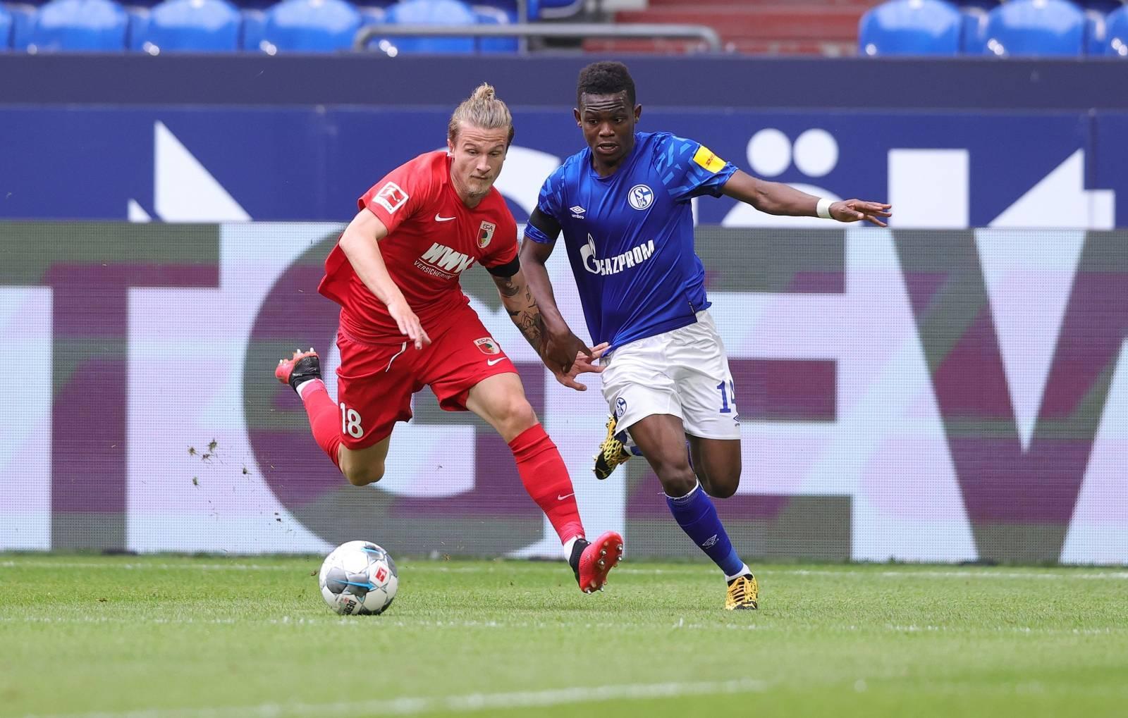 firo, football: 24.05.2020 1.Bundesliga, season 19/20 2019/2020 27th matchday: FC Schalke 04 - FC Augsburg