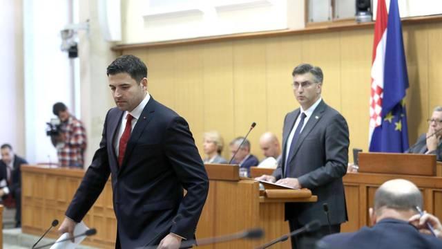 Zagreb: Plenković u Saboru podnosi izvješće o radu Vlade
