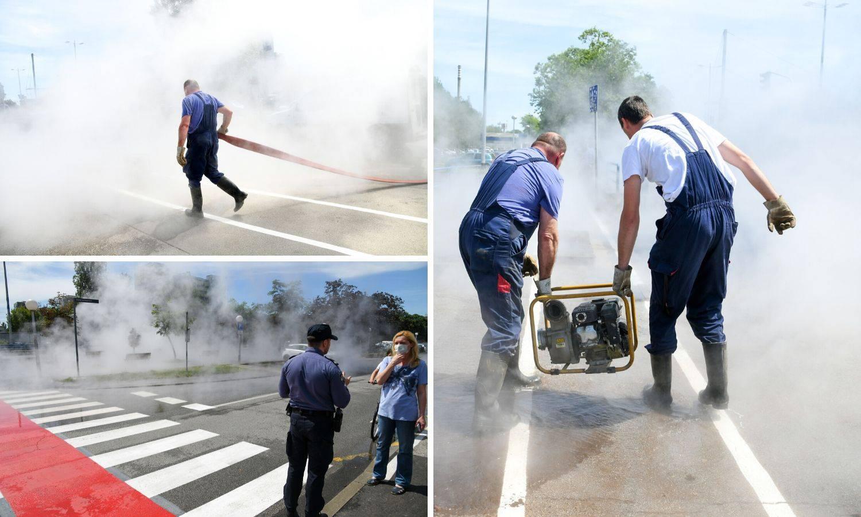 Video: Dio Novog Zagreba bez tople vode, pukao je vrelovod