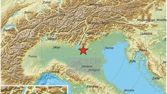 Drmalo kod Verone: Potres magnitude 4.5 po Richteru