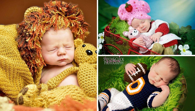 Preslatko: Fotografkinja hekla odjeću za svaku bebu koju slika