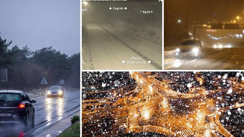 U Dalmaciji snijeg: Zatvorene su ceste, policija upozorava vozače