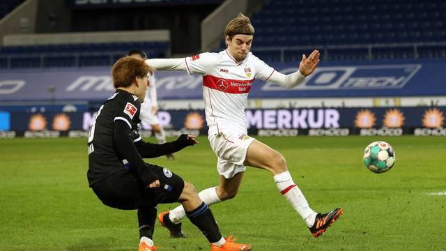 firo: 20.01.2021, football, 1st Bundesliga, 2020/2021 Arminia Bielefeld - VfB Stuttgart