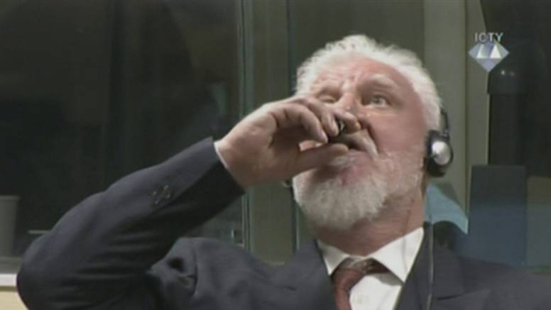 Popio otrov u sudnici: Praljak je preminuo u bolnici u Haagu