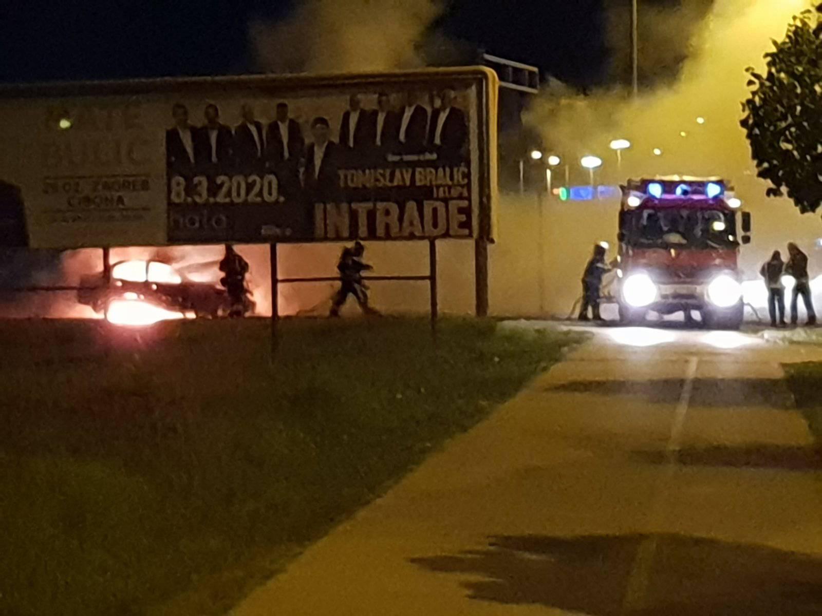 Zapalio se auto na Jankomiru: 'Cijela ulica je bila zadimljena'