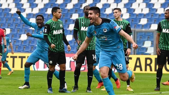 Italian football Serie A match - US Sassuolo vs AC Spezia