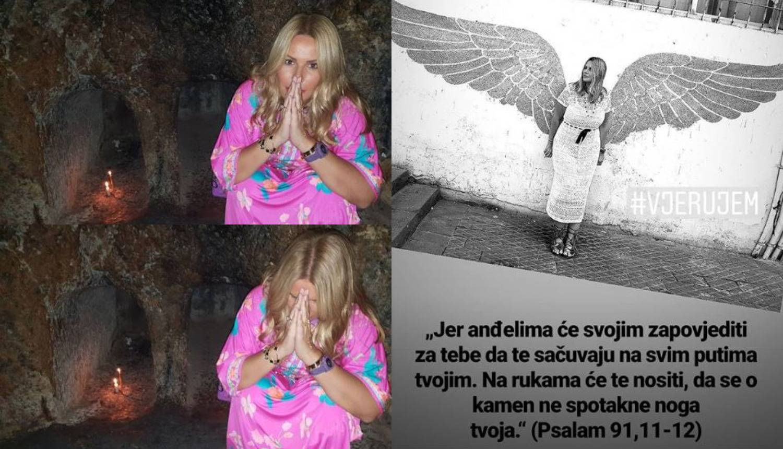 Iva Todorić posjetila je Isusov grob pa pozirala poput anđela