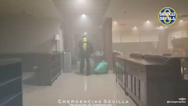 Fire at a nursing home in Sevilla
