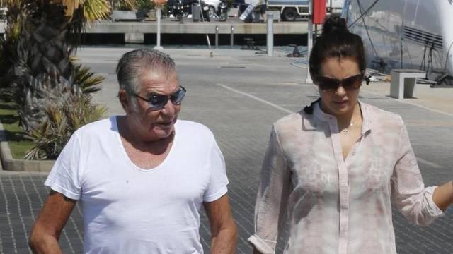 Roberto Cavalli And Girlfriend Walk Their Dogs - Ibiza