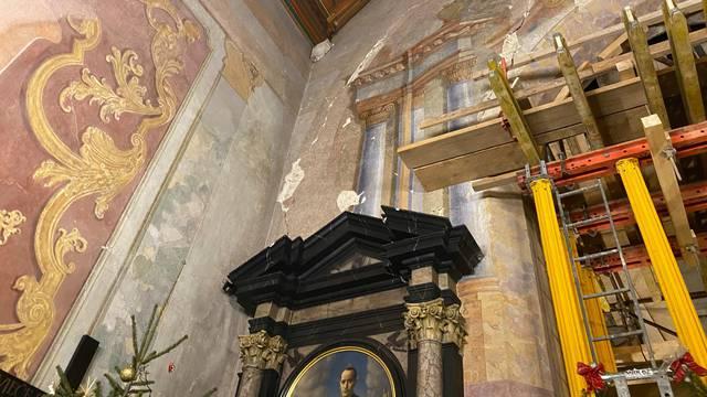 Oštećena je crkva u Remetama