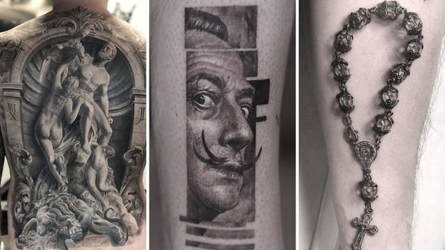 Švedski umjetnik radi čudesne umjetničke crno-bijele tetovaže