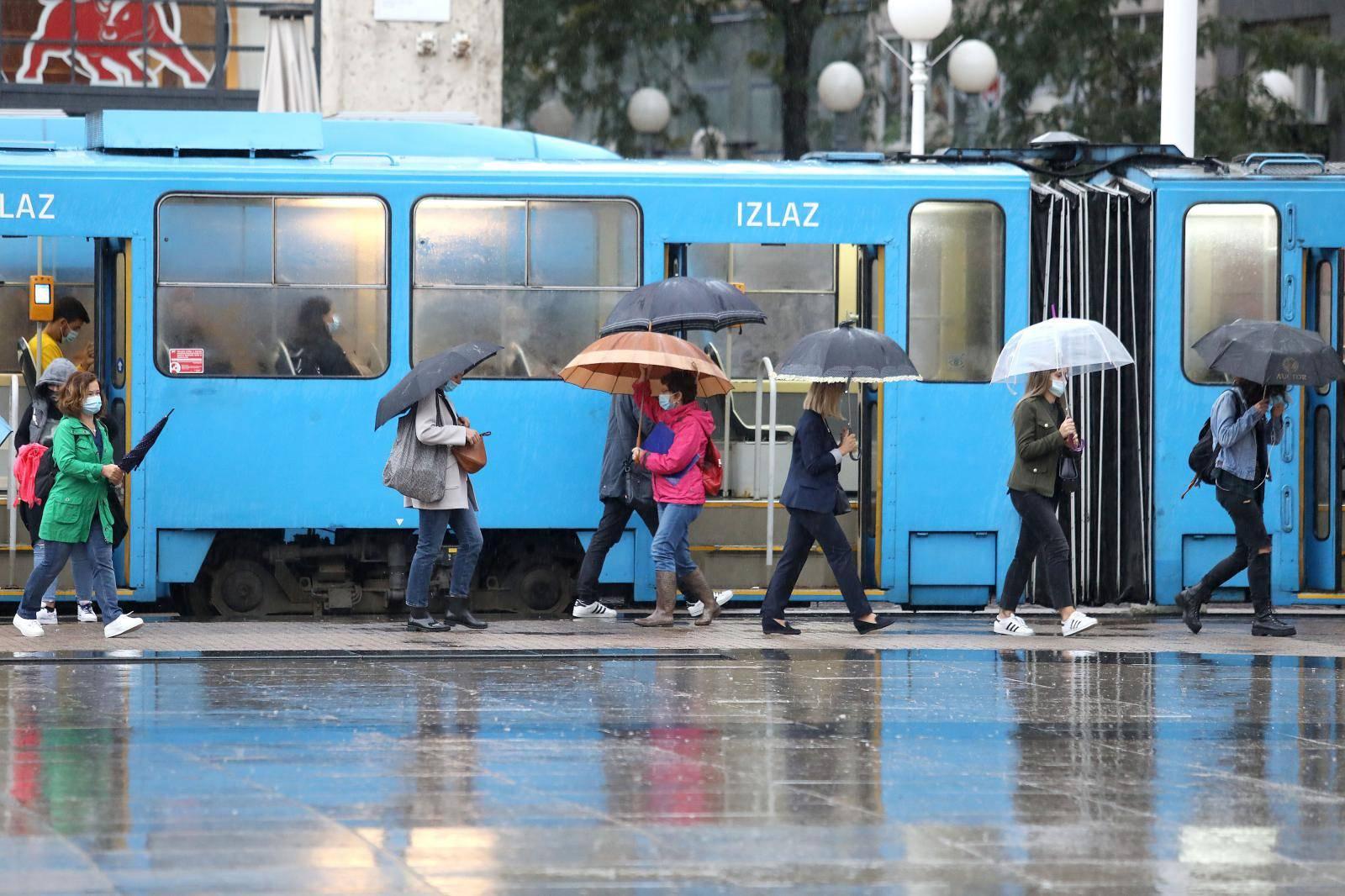 Zagreb: Jaka kiša najavljuje znatniju promjenu vremena
