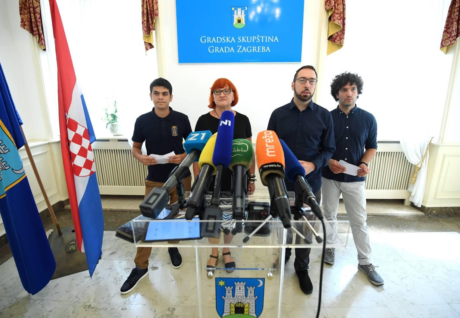 Zagreb: Konferencija zastupnika lijevog bloka u Gradskoj skupštini