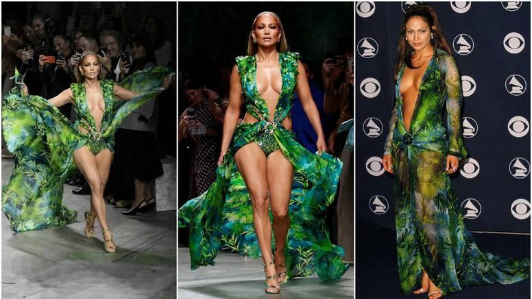 Jedva obuzdala obline: Nakon 19 godina J.Lo u kultnoj haljini