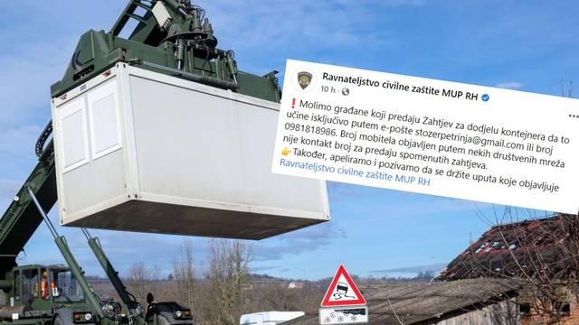 Civilna zaštita: Kontejnere treba tražiti preko Gmaila. Stručnjak: 'Je li to uopće zakonito raditi?'