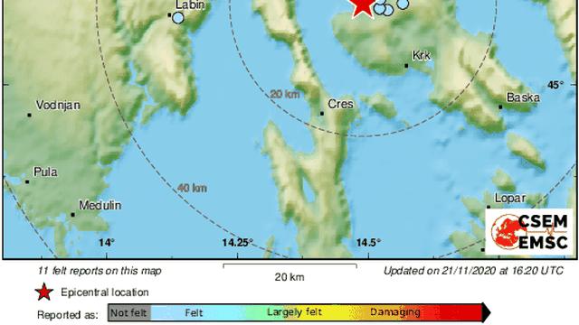 U Rijeci potres 2.0 po Richteru