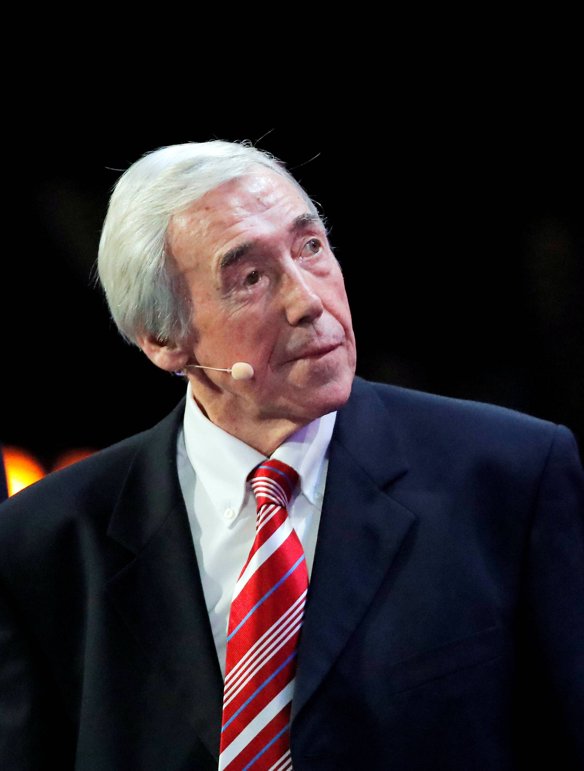 FILE PHOTO: Gordon Banks during the 2018 FIFA World Cup Draw at State Kremlin Palace