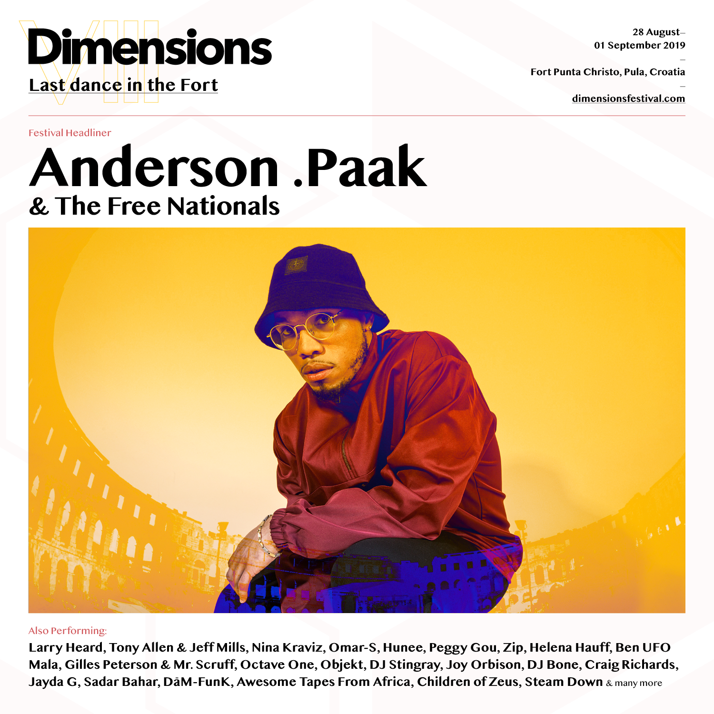 Anderson .Paak i njegov band otvaraju Dimensions festival