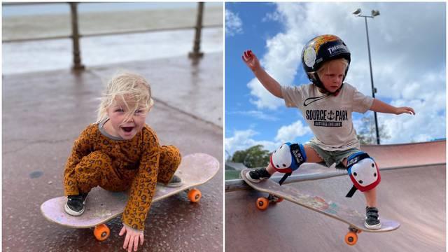Britanka Autumn (3) najmlađa je skateboarderica na svijetu, a njezine trikove prati cijeli svijet