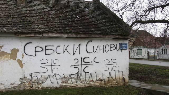 U Vukovaru grafitima ispisivali 'Srbija', policija ih je uhvatila