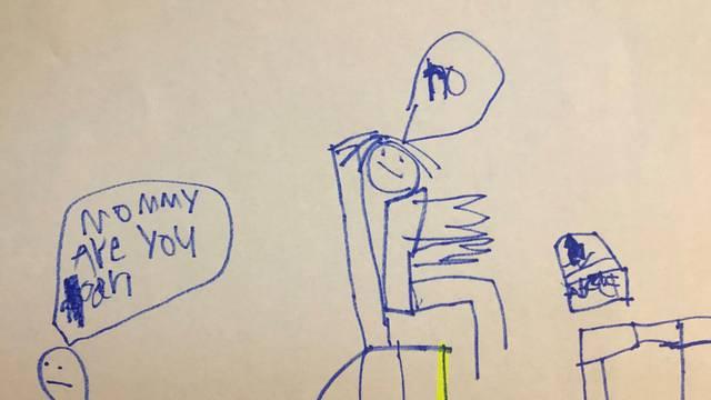 Tužna istina o radu od kuće: Mamino srce se slomilo kada je vidjela crtež svog sina (6)