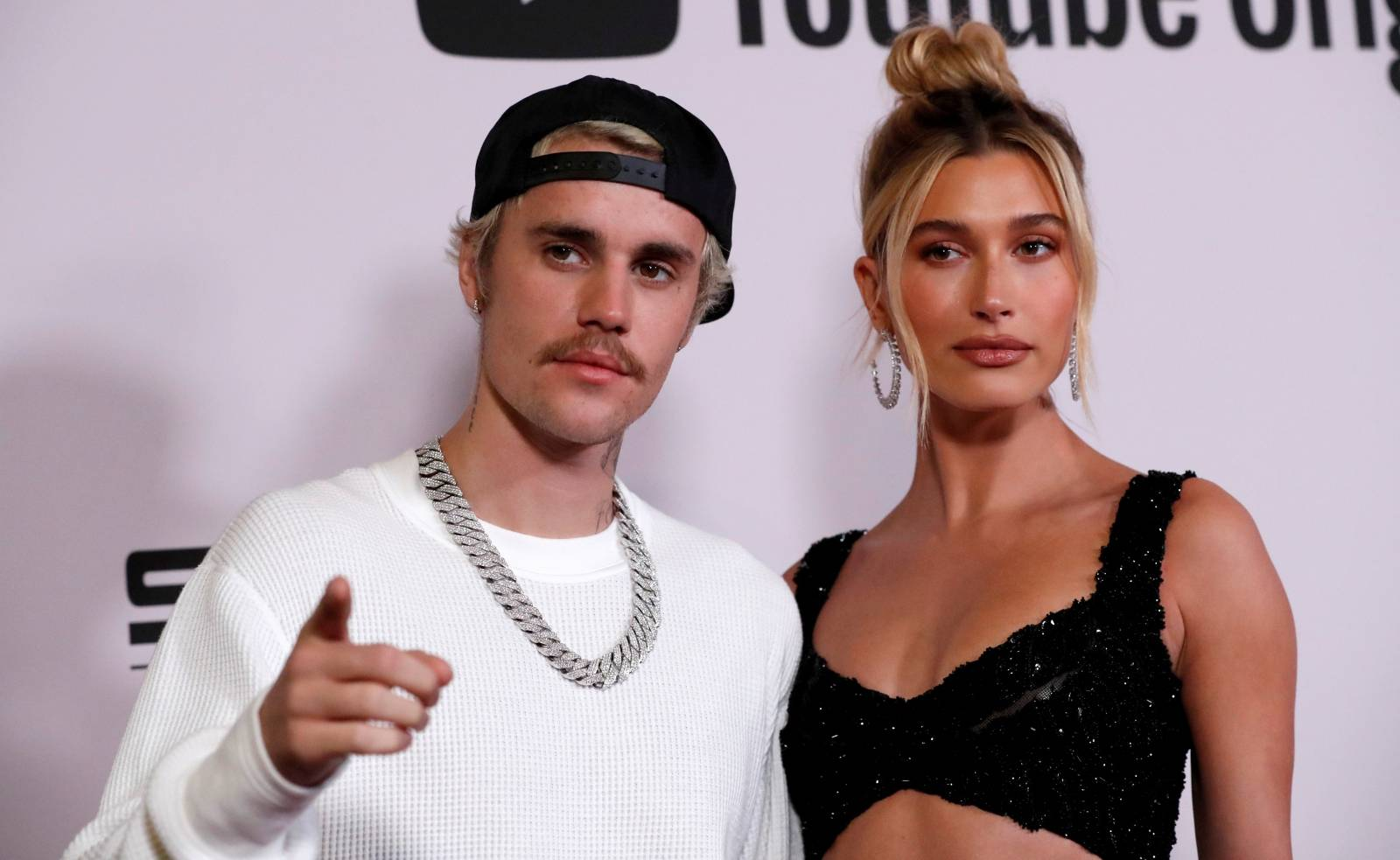 "FILE PHOTO: Singer Bieber and his wife Hailey Baldwin pose at the premiere for the documentary television series ""Justin Bieber: Seasons"" in Los Angeles"