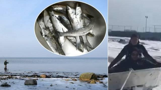 Bračani 'glisiraju' na snijegu, u Ninu zbog leda 'polarni' ribolov